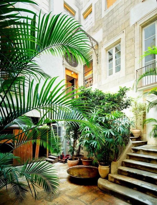 Gartenhaus Mit Terrasse: 44 Einmalige Fotos! - Archzine.net Exotische Pflanzen Terrasse Haus