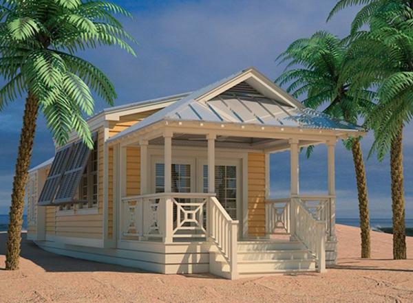 gelbes-Haus-Sand-Palms-Fensterläden-aus-Holz