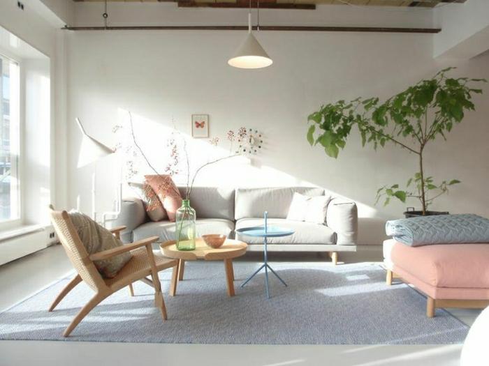wohnzimmer gestalten rosa:gemütliches-wohnzimmer-gestalten-pastellfarben-farbpaletten