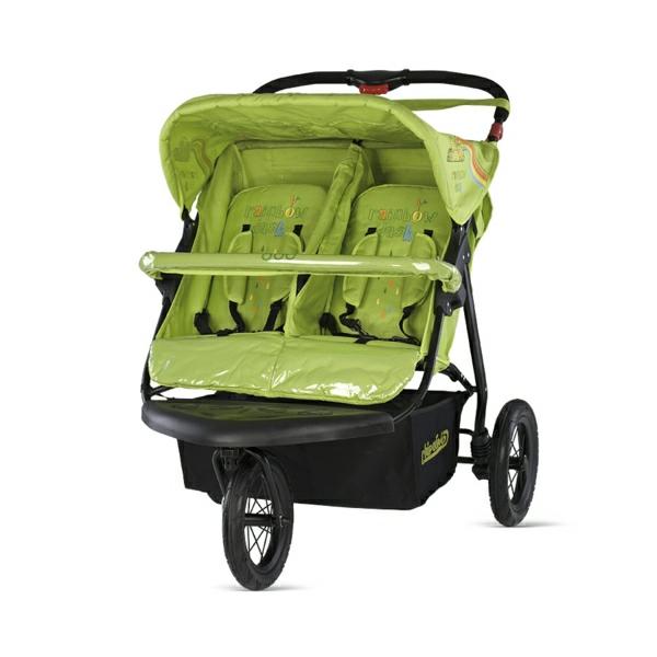 grüner-luxus-kinderwagen-design-beste-kinderwagen-zwillinge
