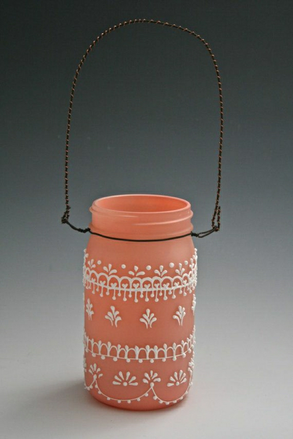 hängende-matte-Einweckglas-Laterne-Pfirsichfarbe-Henna-Dekoration-Weiß
