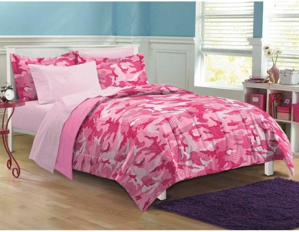 ideen-schlafzimmer-inspiration- schlafzimmer-gestalten-schöne-bettwäsche-rosa