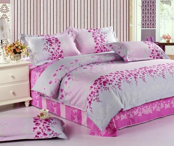 ideen-schlafzimmer_schlafzimmer-inspiration- schlafzimmer-gestalten-schöne-bettwäsche-rosa