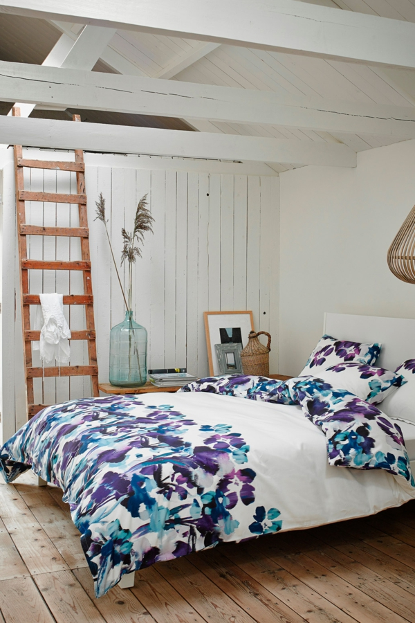innendesign-schlafzimmer-inspiration- schlafzimmer-gestalten-schöne-bettwäsche-