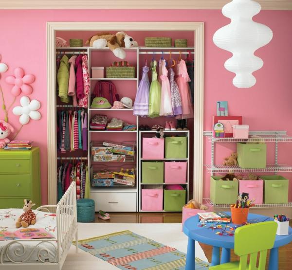 Kinderzimmer Rosa Wandfarbe Kinderzimmereinrichtung Kinderzimmer Gestalten  Kinderzimmer Einrichten  Design Inspirations