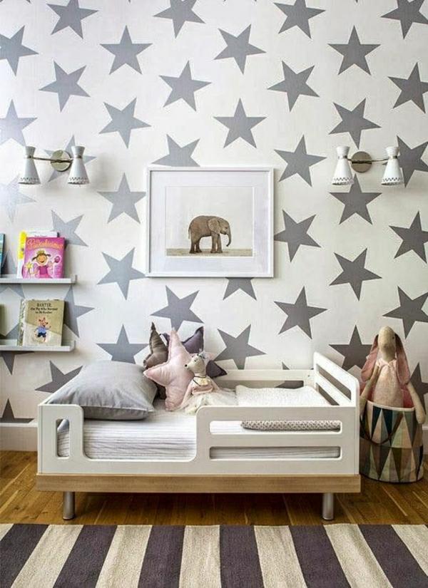 Schlafzimmer Mit Tapete Gestalten : kinderzimmer-tapete-tapeten-kinderzimmer-tapeten-moderne-tapeten-ideen