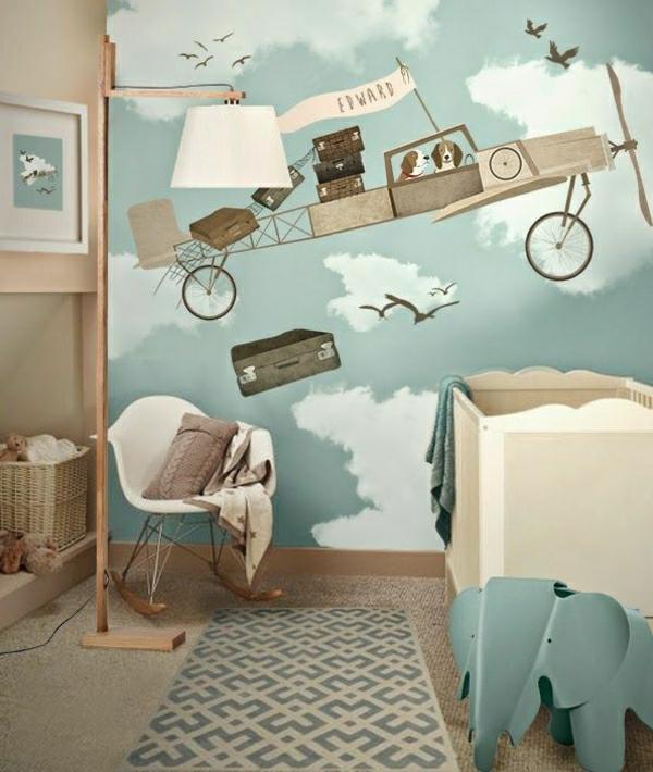-kinderzimmer-tapeten-kinderzimmer-gestalten-kinderzimmer-ideen-schöne-tapeten-kinderzimmer-wandgestaltung Kinderzimmer Tapete