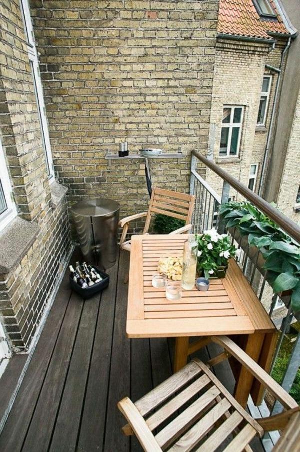 Klapptisch balkongeländer  Idee Holz Balkon