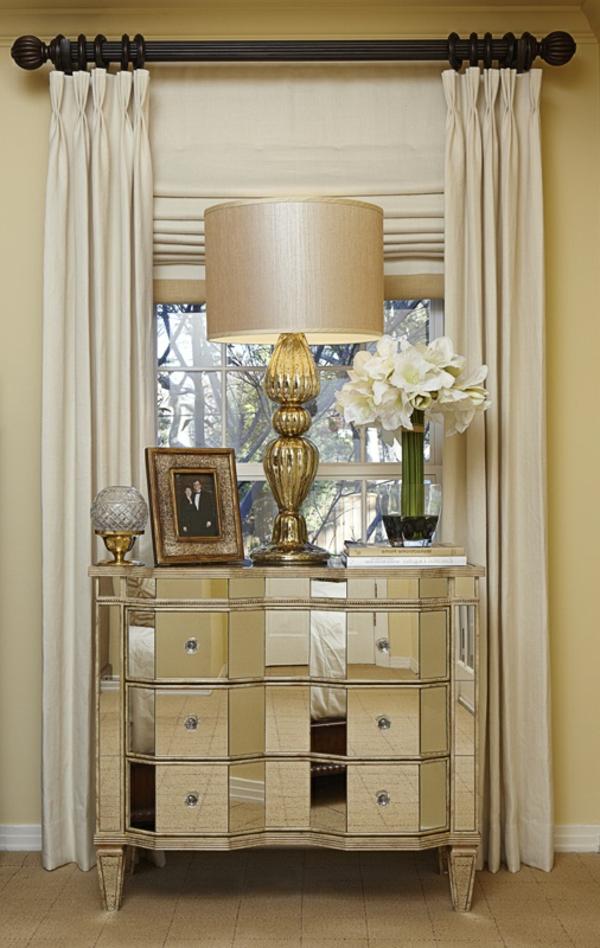 kommode-für-flur-attraktive-schöne-lampe