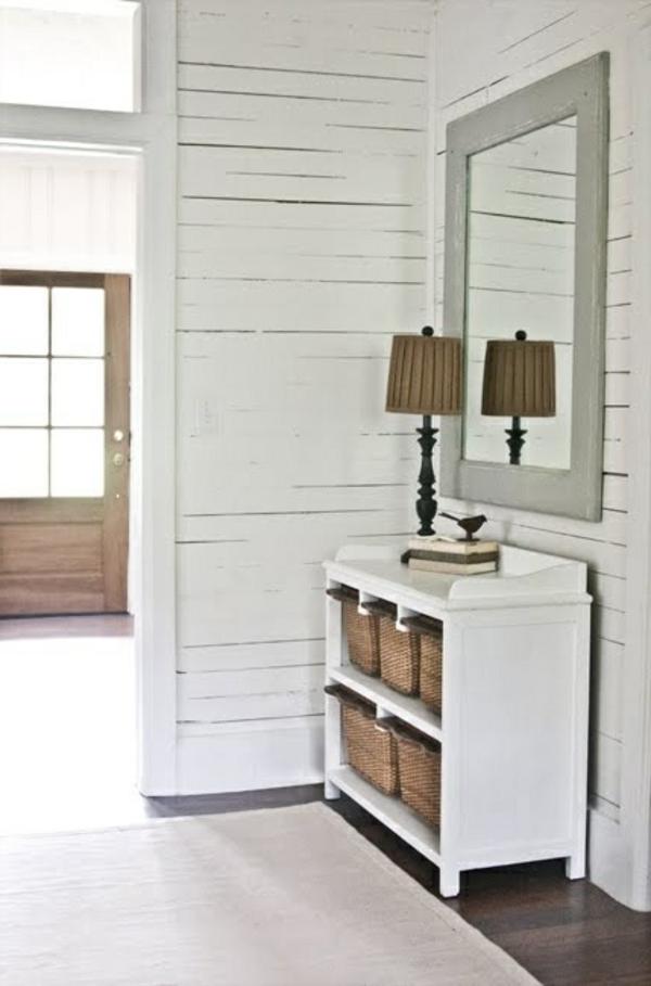 kommode-für-flur-weißes-interieur - tolles design