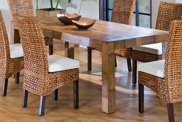 Esszimmermöbel holz  Korbstühle für Esszimmer: 36 tolle Designs! - Archzine.net