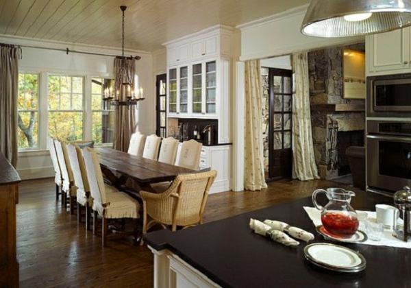 korbstühle-für-esszimmer-sehr-schönes-interieur - tolles aussehen