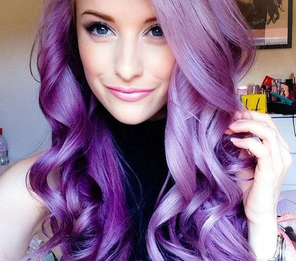 Lila Haare? Eine besonders interessante Idee!