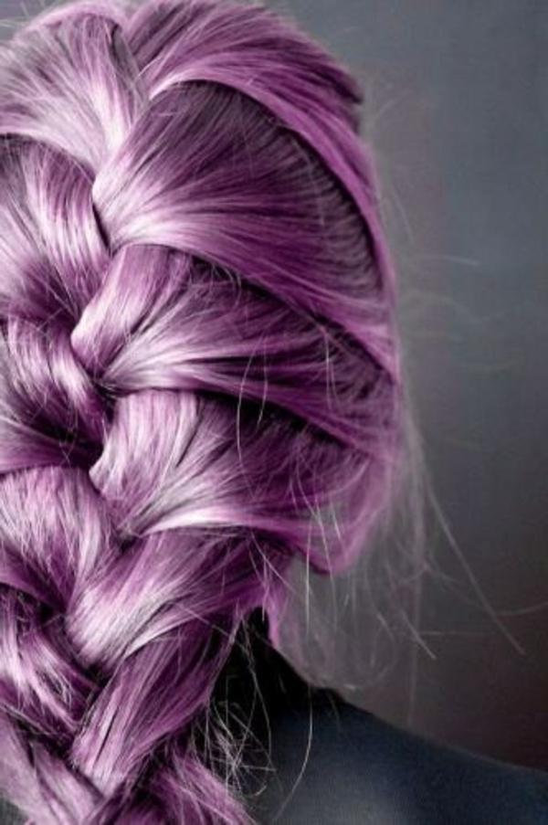 lila-haare-süß-aussehender-zopf - einmalig erscheinen