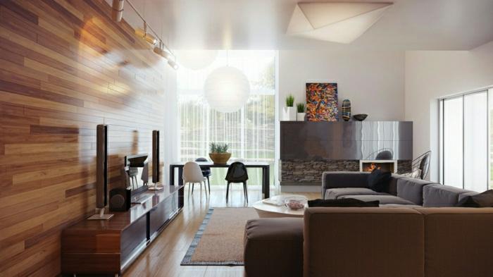wandverkleidung wohnzimmer: wohnzimmer innenarchitektur japanisch,