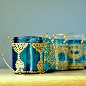 Henna Muster auf 59 handgemachten Kunstwerken