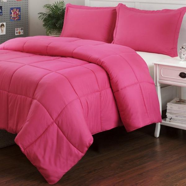 micro-fiber-bettwäsche-set-schlafzimmer-einrichten-schöne-bettwäsche-rosa-schlafzimmer-ideen