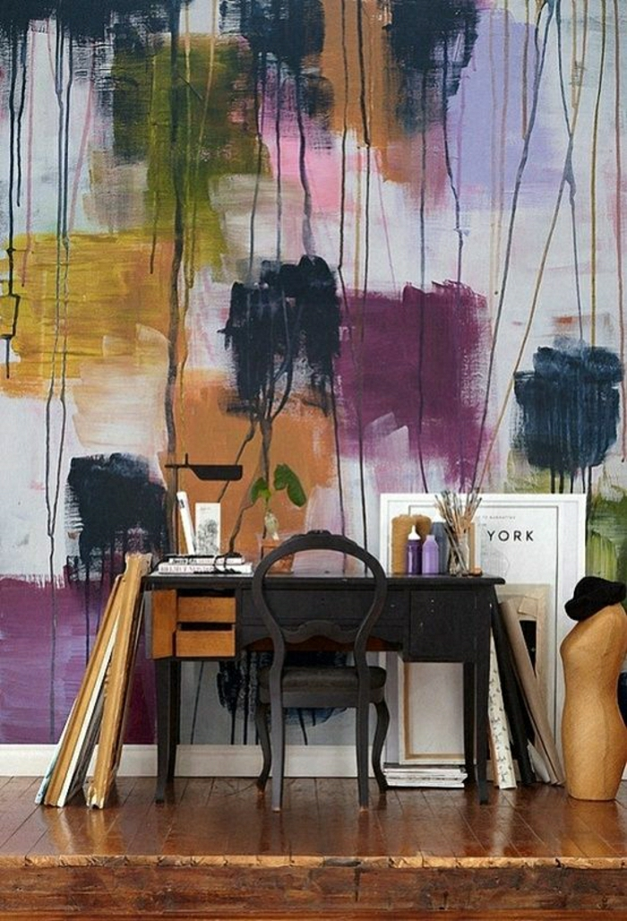 moderne tapeten f r die ganze wohnung. Black Bedroom Furniture Sets. Home Design Ideas