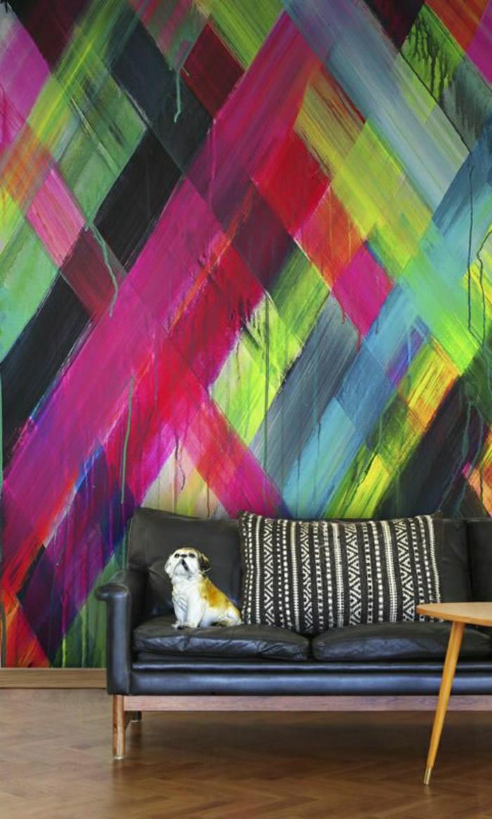 moderne-Tapeten-starke-Farben