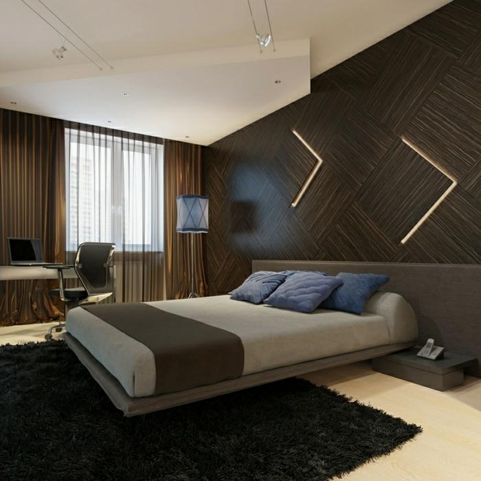 moderne-einrichtung-schlafzimmer-wandgestaltung-holz-schöne-wände-wohnzimmer-wandgestaltung