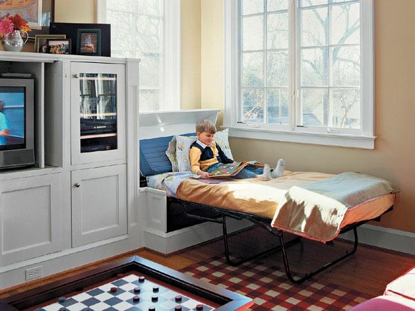 klappbett 50 praktische raumsparende ideen. Black Bedroom Furniture Sets. Home Design Ideas