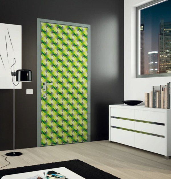 moderne-haustüren-grüne-farbe-sehr-kreatives-aussehen