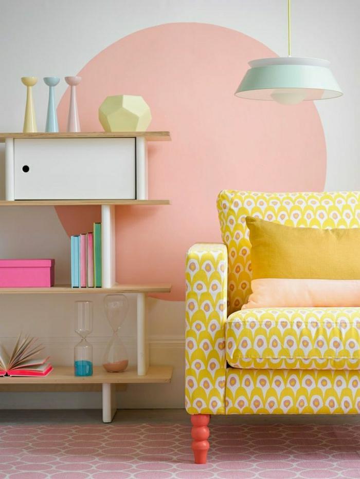 wohnzimmer pastellfarben:moderne-wandgestaltung-wohnzimmer-ideen-wandgestaltung-ideen-für