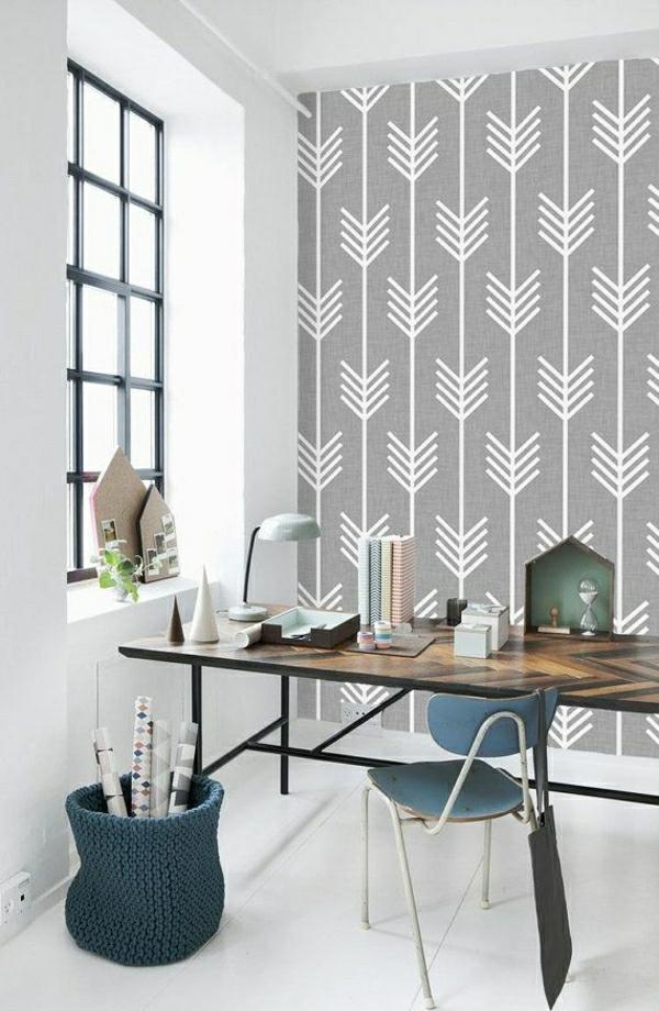 trendige tapeten ideen f r jeden raum. Black Bedroom Furniture Sets. Home Design Ideas