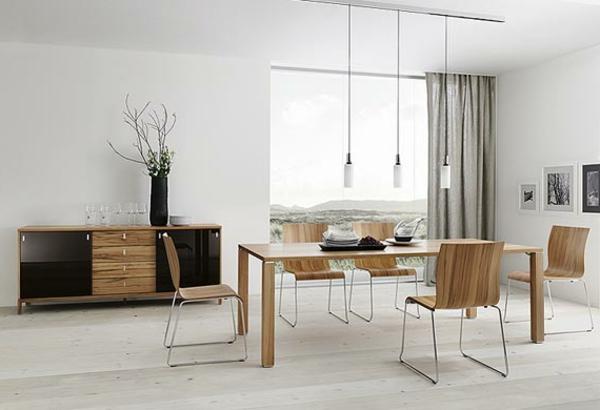 modernes-esszimmer-einfaches-schönes-interieur