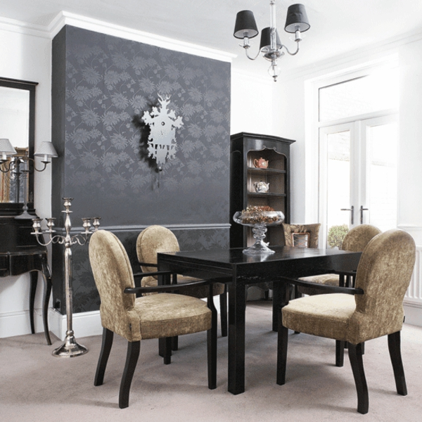 60 tolle beispiele f r modernes esszimmer. Black Bedroom Furniture Sets. Home Design Ideas