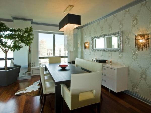 modernes-esszimmer-schöne-weiße-stühle