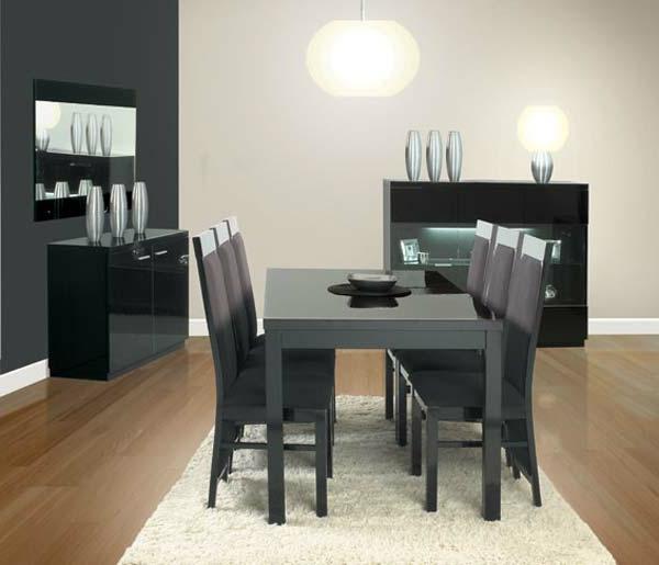 modernes-esszimmer-schwarze-möbelstücke