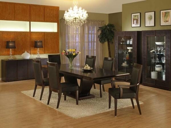 modernes-esszimmer-tolle-braune-möbelstücke