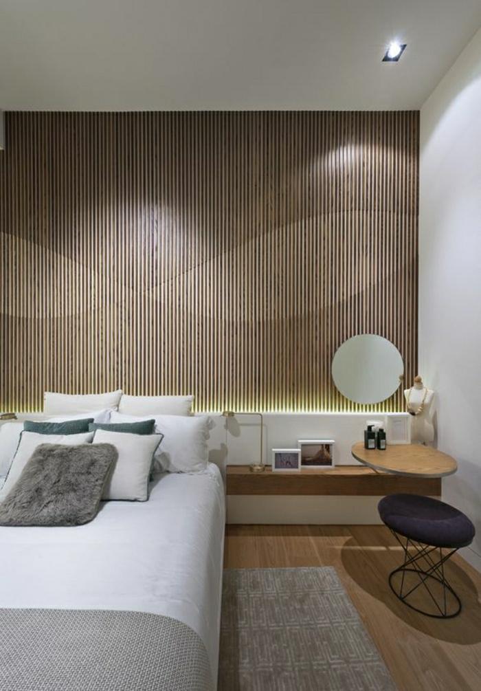 wandverkleidung aus holz - 95 fantastische design ideen - archzine.net - Schlafzimmer Ideen Wandgestaltung Holz