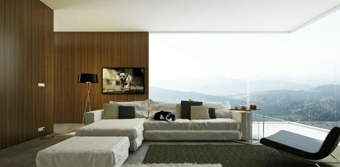 schöne wohnzimmer uhren:modernes-wohnzimmer-wandgestaltung-holz-schöne-wände-wohnzimmer