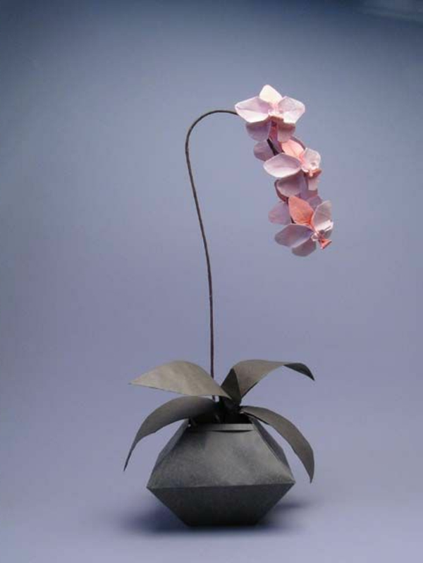 origami-vase-rosige-orchidee