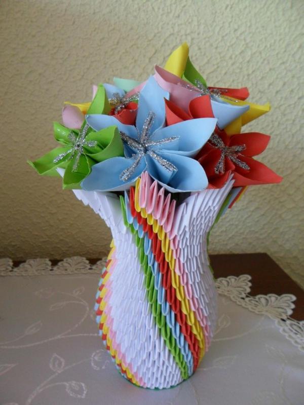 Titelbild Schoenes Aus Papier Von : Einmalige modelle von origami vase archzine
