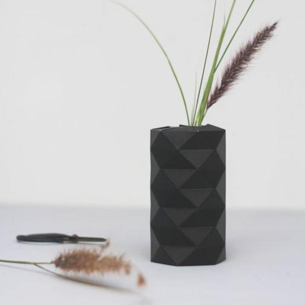 34 einmalige modelle von origami vase. Black Bedroom Furniture Sets. Home Design Ideas