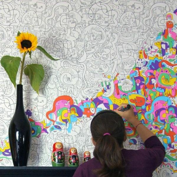 Originelle Einrichtungsideen Kinderzimmer Tapete Tapeten Kinderzimmer  Tapeten Moderne