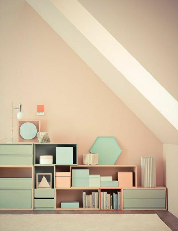Wandfarbe Schlafzimmer Pastell Orange