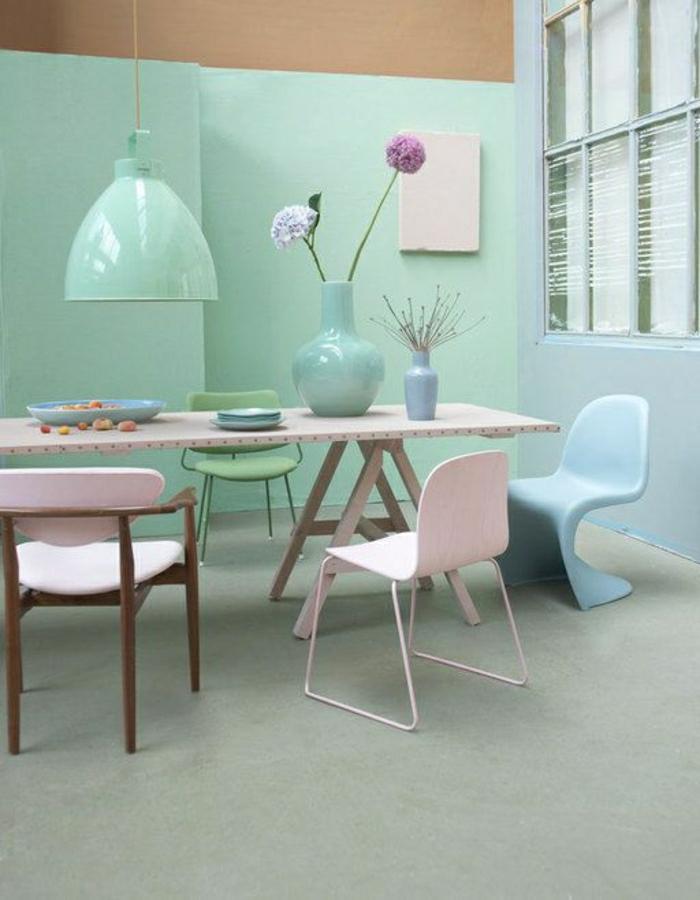 wandgestaltung wohnzimmer pastell – Dumss.com