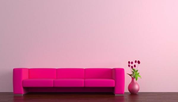 rosa wandfarbe - 25 super schöne beispiele! - archzine.net - Rosa Wandfarbe Wohnzimmer