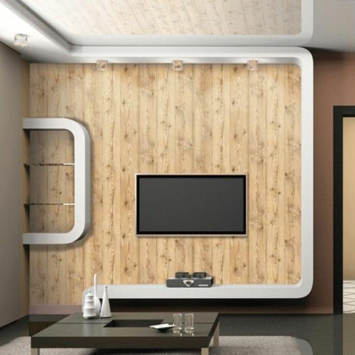 Tapete in Holzoptik - 24 effektvolle Wandgestaltungsideen