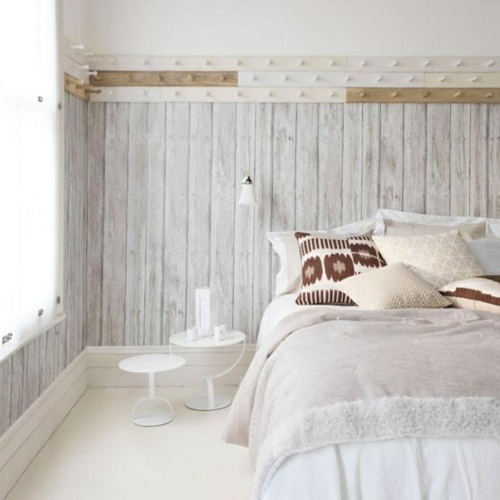 schöne-tapeten-holzoptik-wandgestaltung-wand-holzoptik-tapete-tapeten-ideen-schlafzimmer-ideen