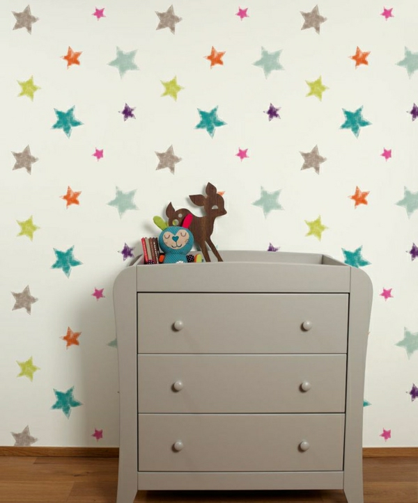 48 tolle beispiele f r kinderzimmer tapete. Black Bedroom Furniture Sets. Home Design Ideas