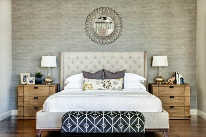 Schwarze Tapete Welche Wandfarbe : Schlafzimmer tapeten ideen sch?ne holzoptik wandgestaltung