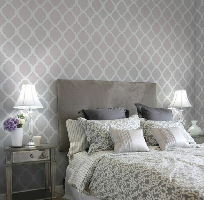 Tapete in grau stilvolle vorschl ge f r wandgestaltung for Vliestapete schlafzimmer