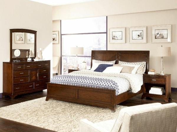 schlafzimmer-aus-massivholz-cooles-interieur-weißer-teppich