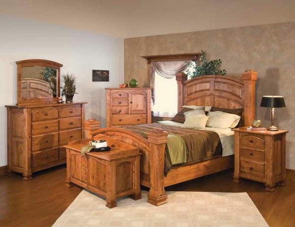 schlafzimmer-aus-massivholz-einfache-ausstattung