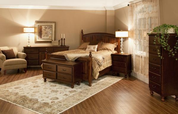 schlafzimmer-aus-massivholz-modernes-und-süßes-aussehen